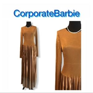 NWT Urban Outfitters Bronze Shimmer Dress